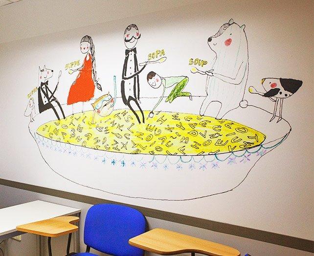 ilustración decoración empresas