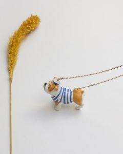 3D perro rayas